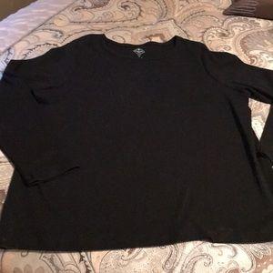 Black cotton long sleeve tshirt